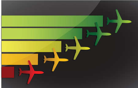 Airplanes fling to the same destination over a dark background Stock Vector - 15684920