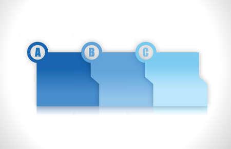 blue progress step folders illustration design over light background Stock Vector - 15684686
