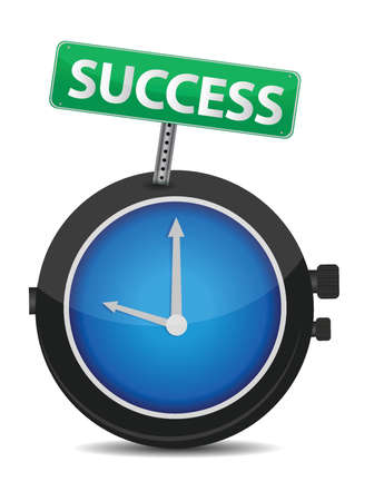 Time for success illustration design over white Stock Vector - 15684960