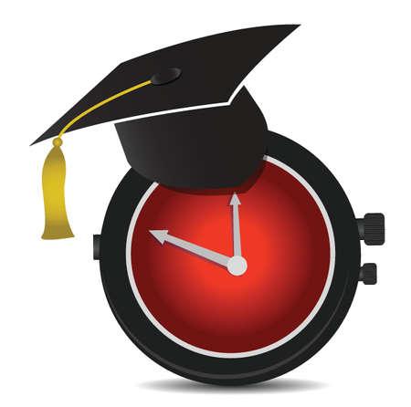 Time for education illustration design over white 向量圖像
