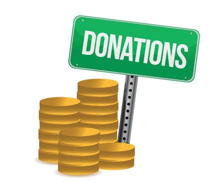 munten en donaties teken illustratie ontwerp op een witte achtergrond