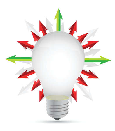 lightbulb with set of arrows around - illustration design