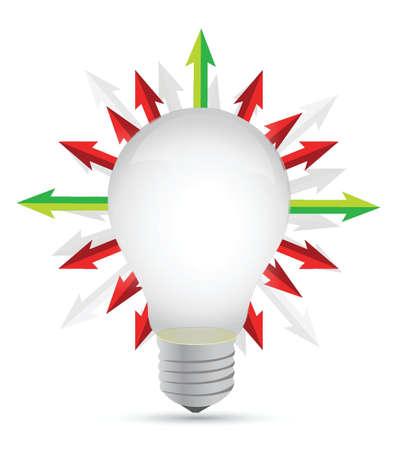 lightbulb with set of arrows around - illustration design Stock Vector - 15684970