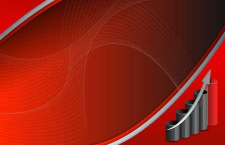 dark red and black business background illustration design Stock Illustration - 15684953