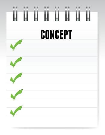 concept notepad illustration design over a gradient design Stock Vector - 15715678