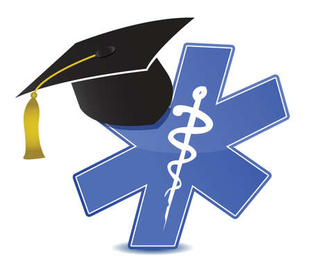medical education symbol illustration design over white Vector