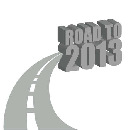 road to 2013 illustration design over a white background