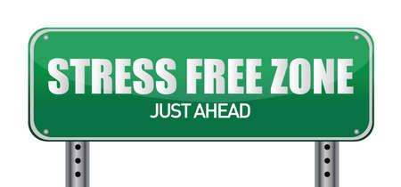 area restringida: Zona libre de estr�s signo delante ilustraci�n dise�o