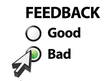 slechte geselecteerd op een feedback vraag Illustratie ontwerp