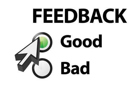 Goede geselecteerd op een feedback vraag Illustratie ontwerp