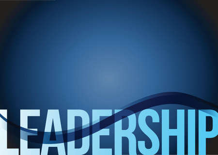 concept: Blue business leadership background with waves illustration Illustration