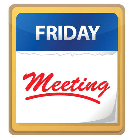 meetup: calendar meeting illustration design over white background