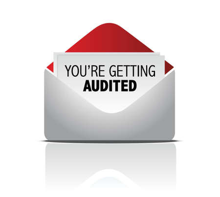 appointments: you are getting audited mail illustration design over white