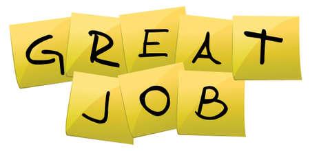 reconocimiento: puesto de trabajo es grande, ilustración, diseño, encima, blanco Vectores