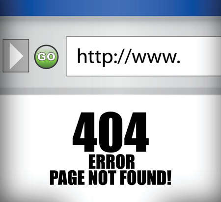 found: 404 error page not found browser illustration design Illustration