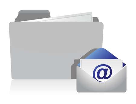 mail and envelope folder information illustration design
