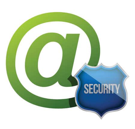 Internet communication security shield illustration design over white Stock Vector - 15809673