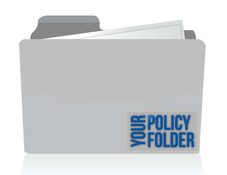 liabilities: your policy folder illustration design over white