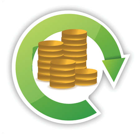 Money cycle illustration design over a white background Illustration