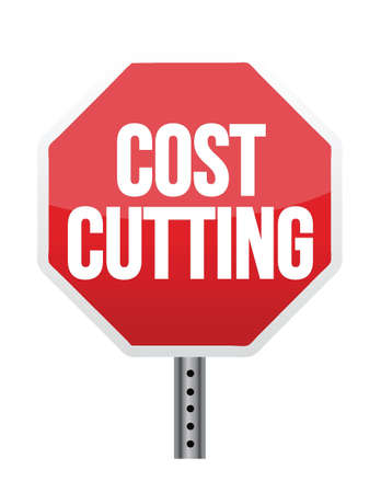 cutback: cost cutting illustration design over white background