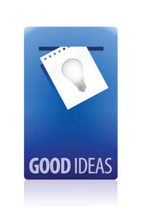 Good ideas booth illustration design over white background Иллюстрация