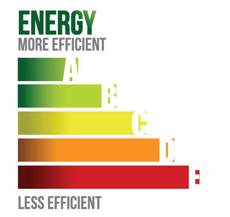 Energy efficient business graph illustration design over white
