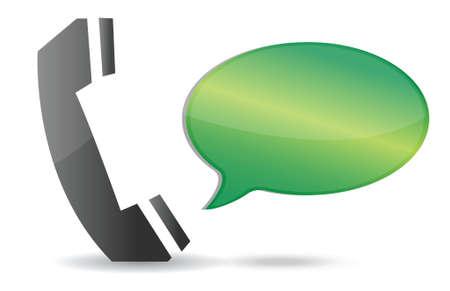 speak bubble: communication concept illustration design over white background