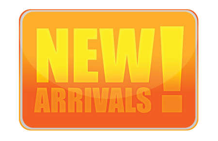 New arrivals orange sign illustration design over white
