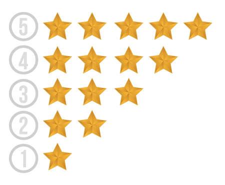 gold stars illustration design over white background Stock Vector - 15829622