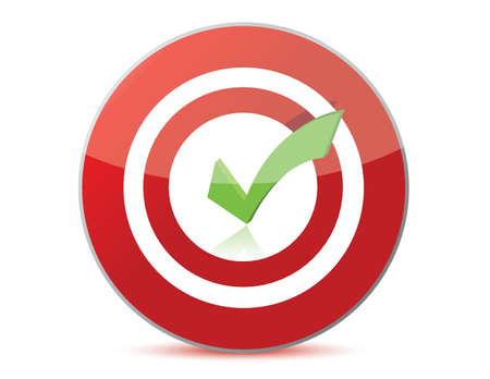 target with checkmark illustration design over white Stock Vector - 15829616