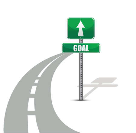 goal road illustration design over white background Vector