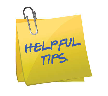 helpful tips post it illustration design over white Vector