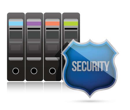 beveiligde server schild illustratie ontwerp op wit