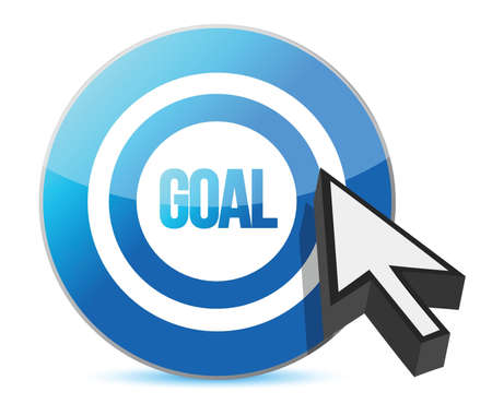 target goal with cursor illustration over white Stock Vector - 15846127