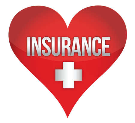 heart insurence illustration design over white background Ilustracja