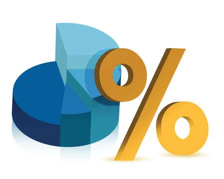pie chart and percentage symbol illustration design Stock Vector - 15868856