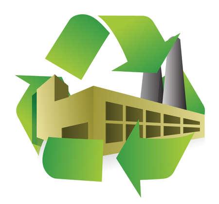 f�brica: reciclar f Ilustra��o