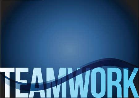 blue business teamwork wave background illustration design Illustration