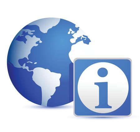 technologie: globe info illustration design over white background