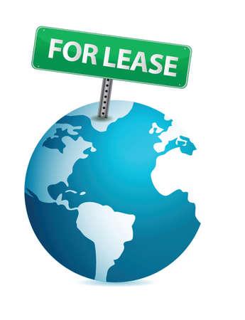 globe for lease illustration design over white background