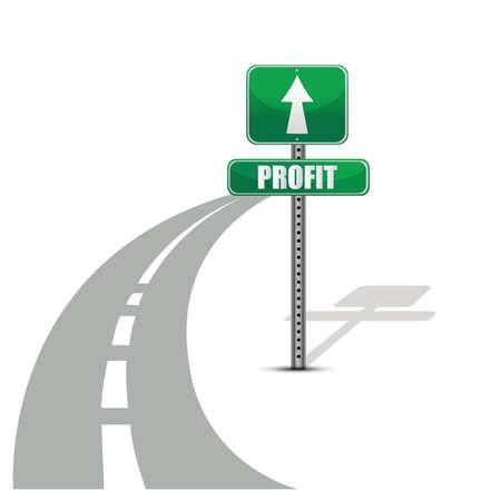 Profit road illustration design concept over white Stock Vector - 15925472