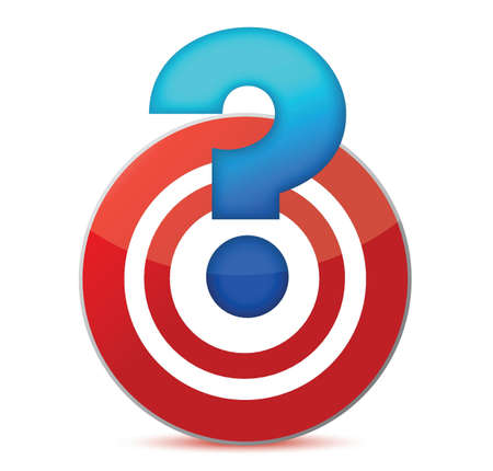 target with question mark illustration design over white Vector