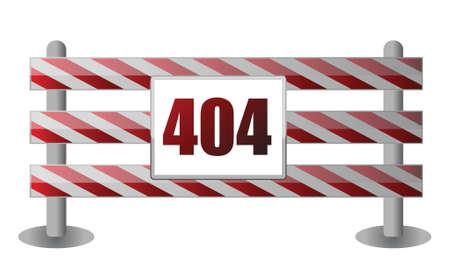 404 barrier illustration design over white background 일러스트