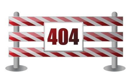 page not found: 404 barrier illustration design over white background Illustration
