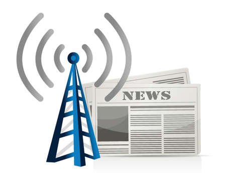 rss feed icon: wifi news illustration design over white background