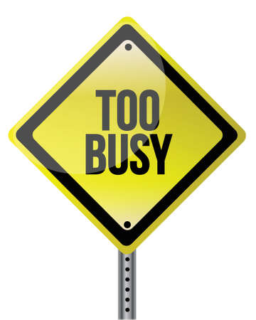 too much: too busy yellow illustration design over white background