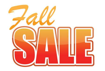 inexpensive: fall sale illustration design over white background Illustration