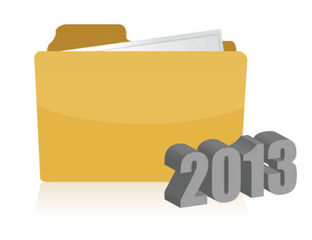 2013 yellow folder illustration design over white background Vector
