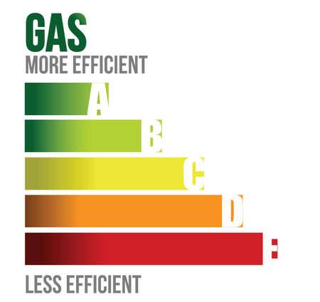 three generations: gas graph diagram illustration design over white