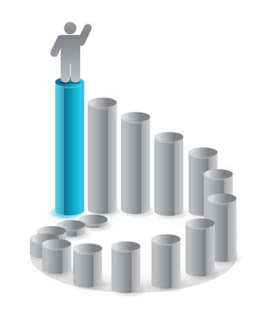 ladder van succes illustratie ontwerp over wit